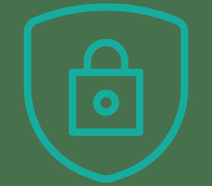 Lock and Shield Data Privacy Symbol